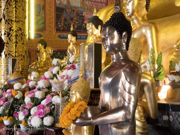Buddha Statues at Wat Jed Yod, Chiang Rai Thailand
