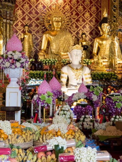 Buddha Statues at Wat Phra Singha, Chiang Rai Thailand