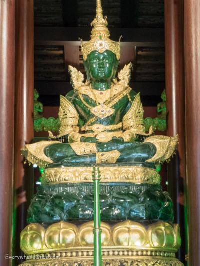 Emerald Buddha at Wat Phra Kaew, Chiang Rai Thailand