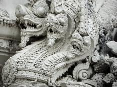 Gaurdian Statues at Wat Phra Singha, Chiang Rai Thailand