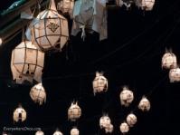 Lanterns over a bridge Chiang Rai Thailand