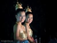 Loy Krathong Festival Parade Beauty Queens, Chiang Rai Thailand