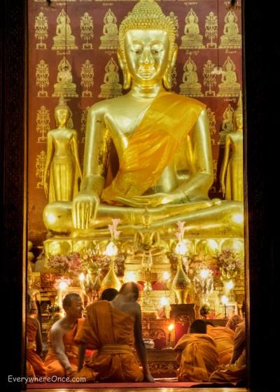 Buddhists Praying in Luang Prabang