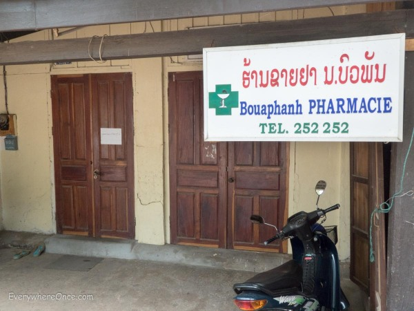 "I think the sign translates to ""Pharmacy of the Closed Doors"" which is how we typically found them"