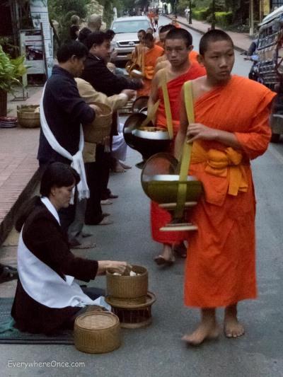 Luang Prabang Alms Giving