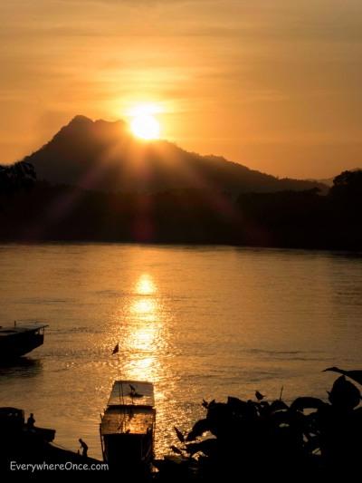 Luang Prabang Sunset over the Mekong