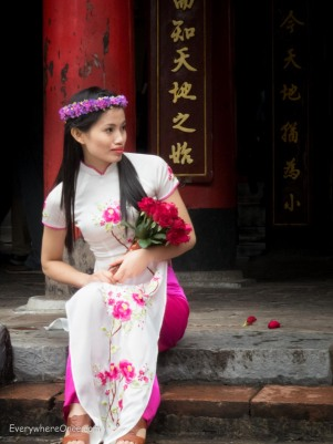 Pretty Girl in Traditional Asian Dress