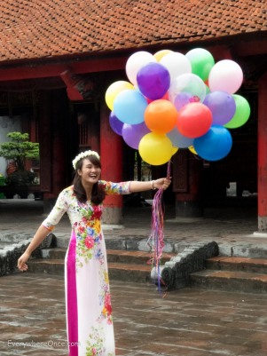 Pretty Girl With Baloons