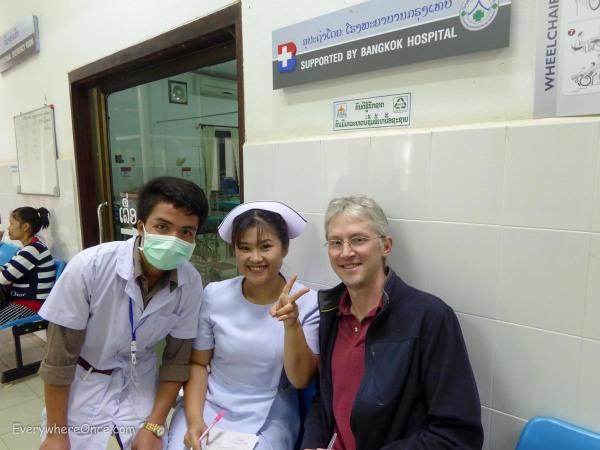 Smiling doctors in Luang Prabang