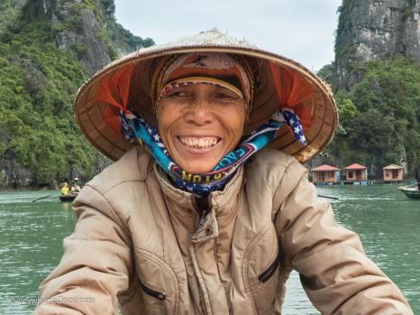 Smiling face in Vietnam