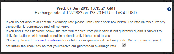 Exchange Rate was 1.1828 on Jan 7