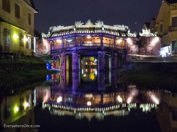 Hoi An Japanese Covered Bridge at Night