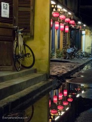 Hoi An Street Scene with Bicycle and Lanterns