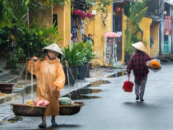 Hoi An, Vietnam Rainy Street Scene