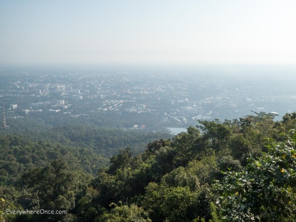The view of Chiang Mai, Thailand, looks a lot like every other high vantage point we reached throughout South East Asia.