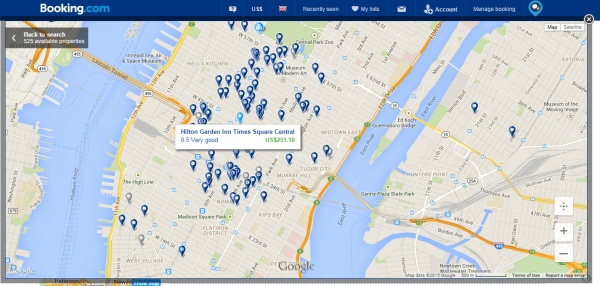 Booking.com's mapping is great for choosing a hotel in the perfect location