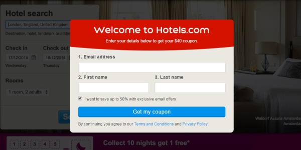 $40 Hotels.com Coupon