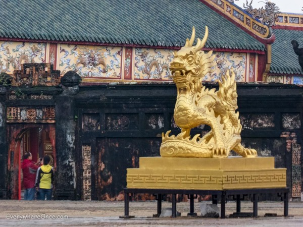 Gilded Dragon Standing Guard at the Imperial City