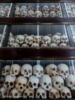 Skulls at Choeung Ek