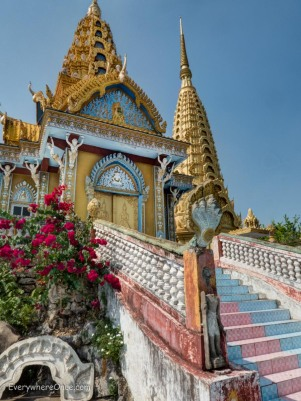 Phnom Sampeau Golden Stupa Battambang Cambodia