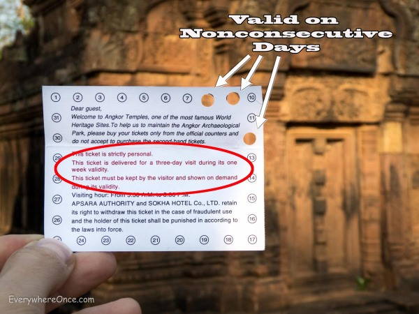 Angkor ticket rules