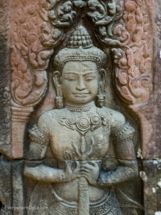 Carving in Ta Prohm Angkor Wat