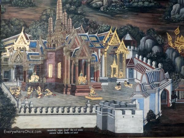 Grand Palace Mural Bangkok