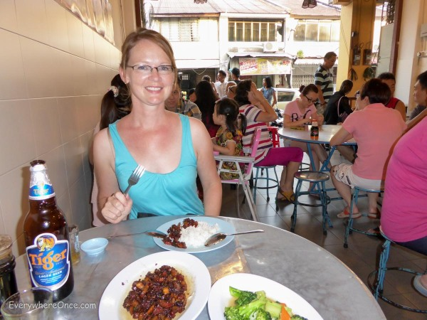 Shannon beams in the pre-fumigation glow of a good meal