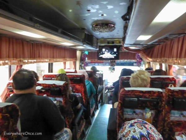 Not the height of luxury but Cambodia's buses got us where we wanted to go