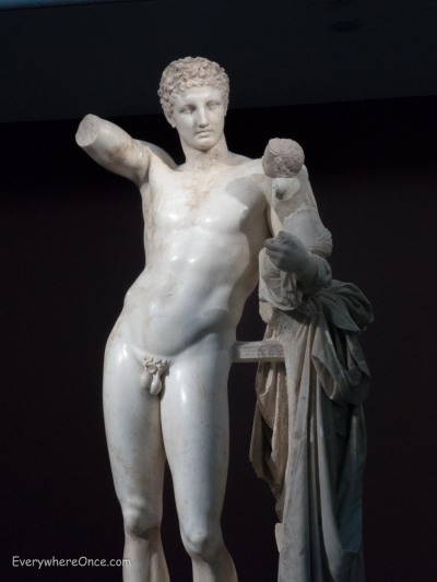 Hermes by Praxiteles, Olympia, Greece