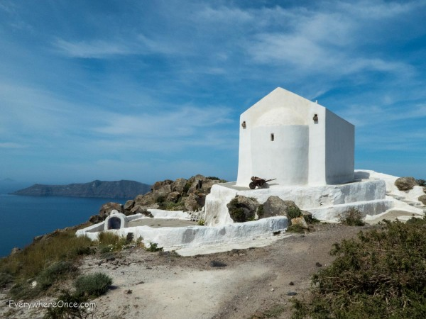 Hike from Thira to Oia Santorini Greece