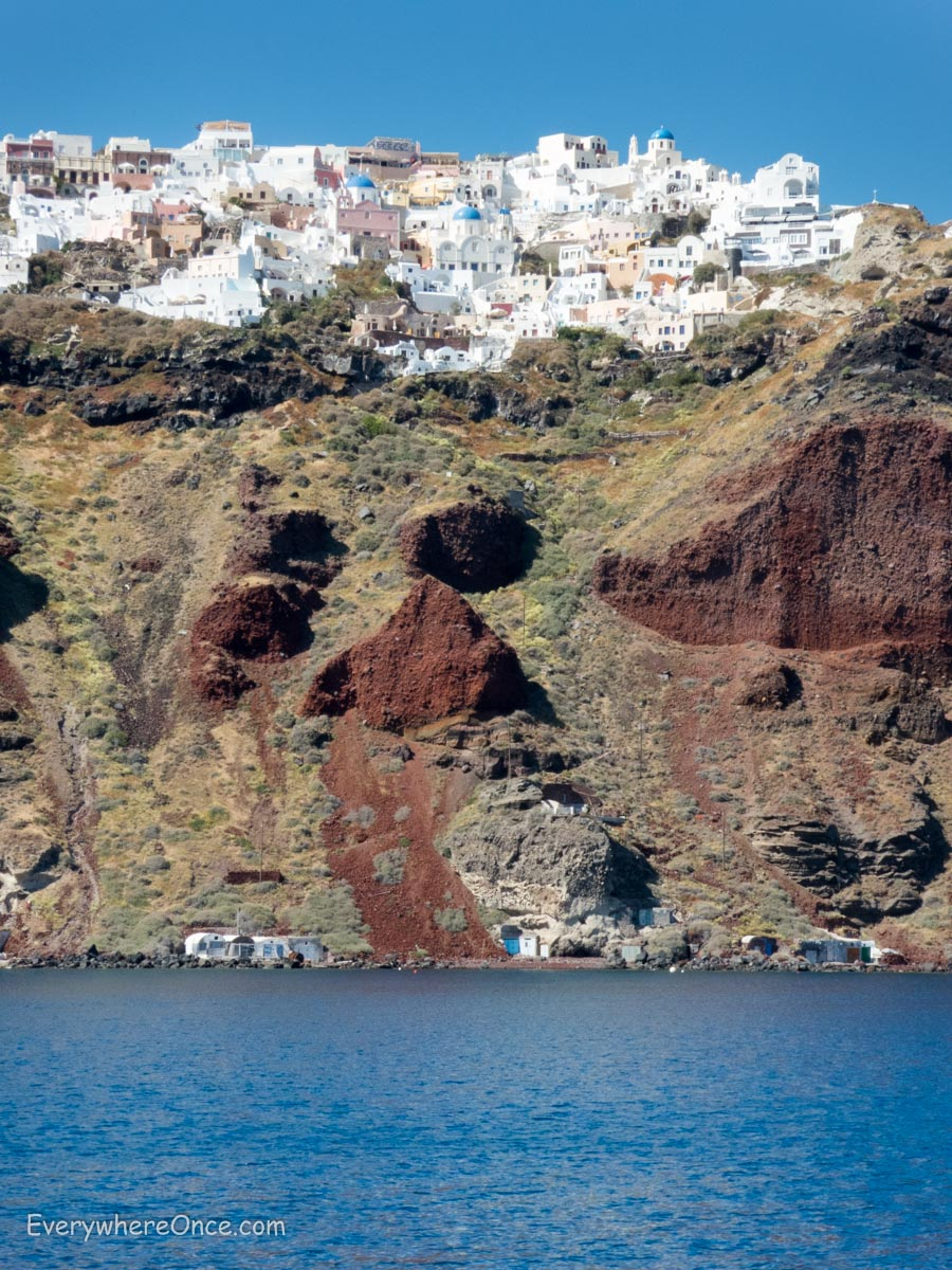 santorini volcano how to get there