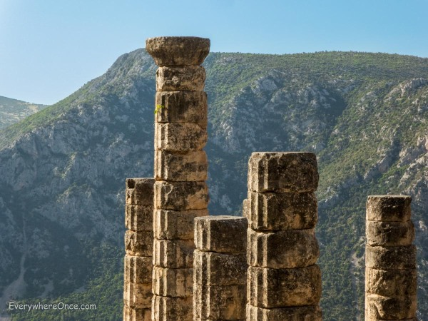 Pillars of the Altar of Apollo, Delphi, Greece