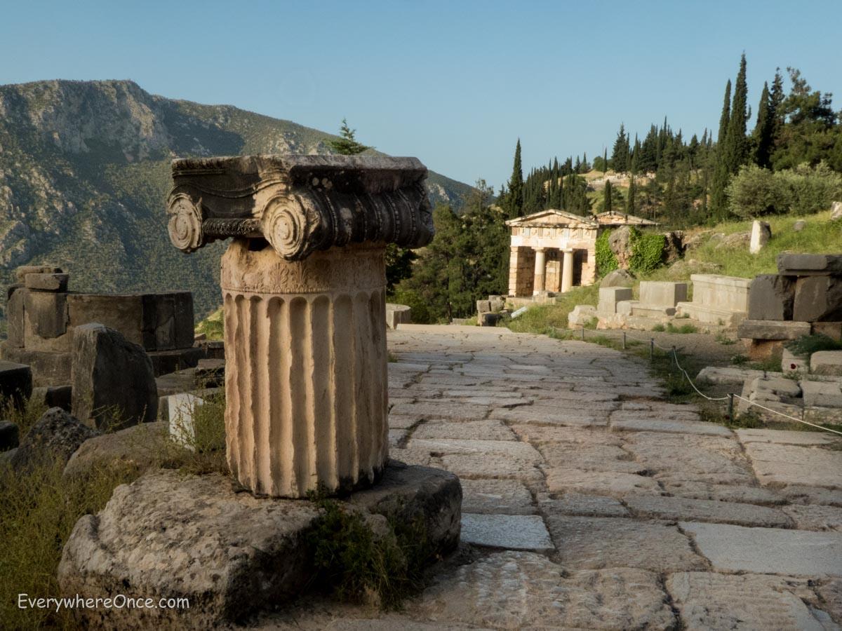 Delphi Greece  city images : The Treasury of the Athenians, Delphi, Greece
