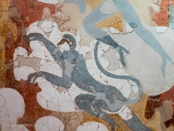 Wall Painting at Museum of Prehistoric Thira