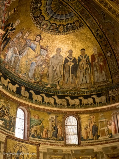 Santa Maria in Trastevere Aspe Mosaic, Rome