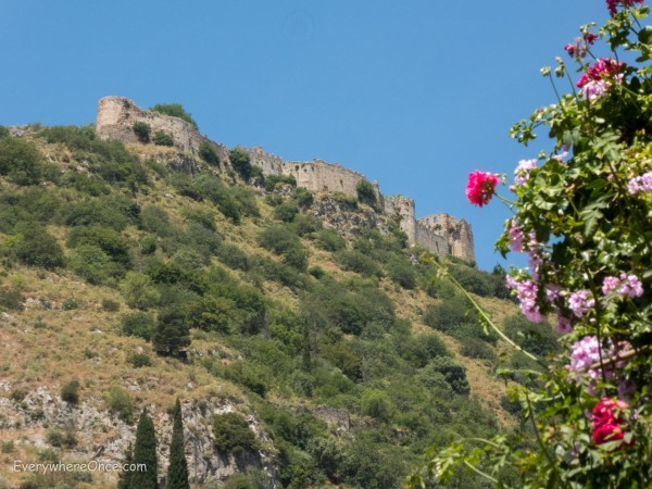Mystras, Greece, from the town below