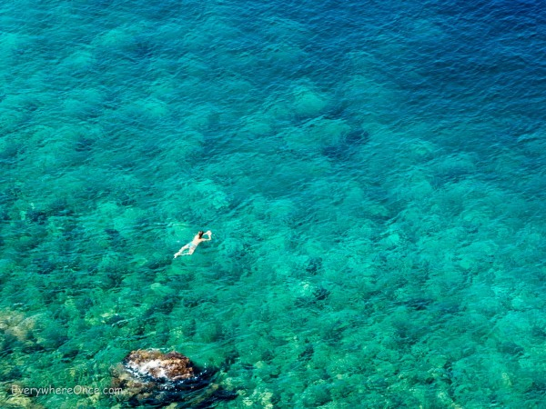 Woman swimming in the Adriatic