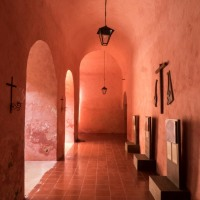The Pink Cloisters of Convento de San Bernardino