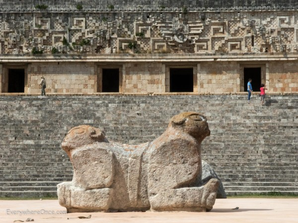 Throne of the Jaguar, Uxmal Mayan Ruins, Mexico